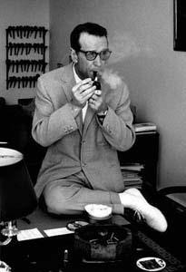 SIMENON, Georges, 1963,  Ecrivain (F)                                     © ERLING MANDELMANN ©