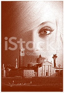Venice and woman